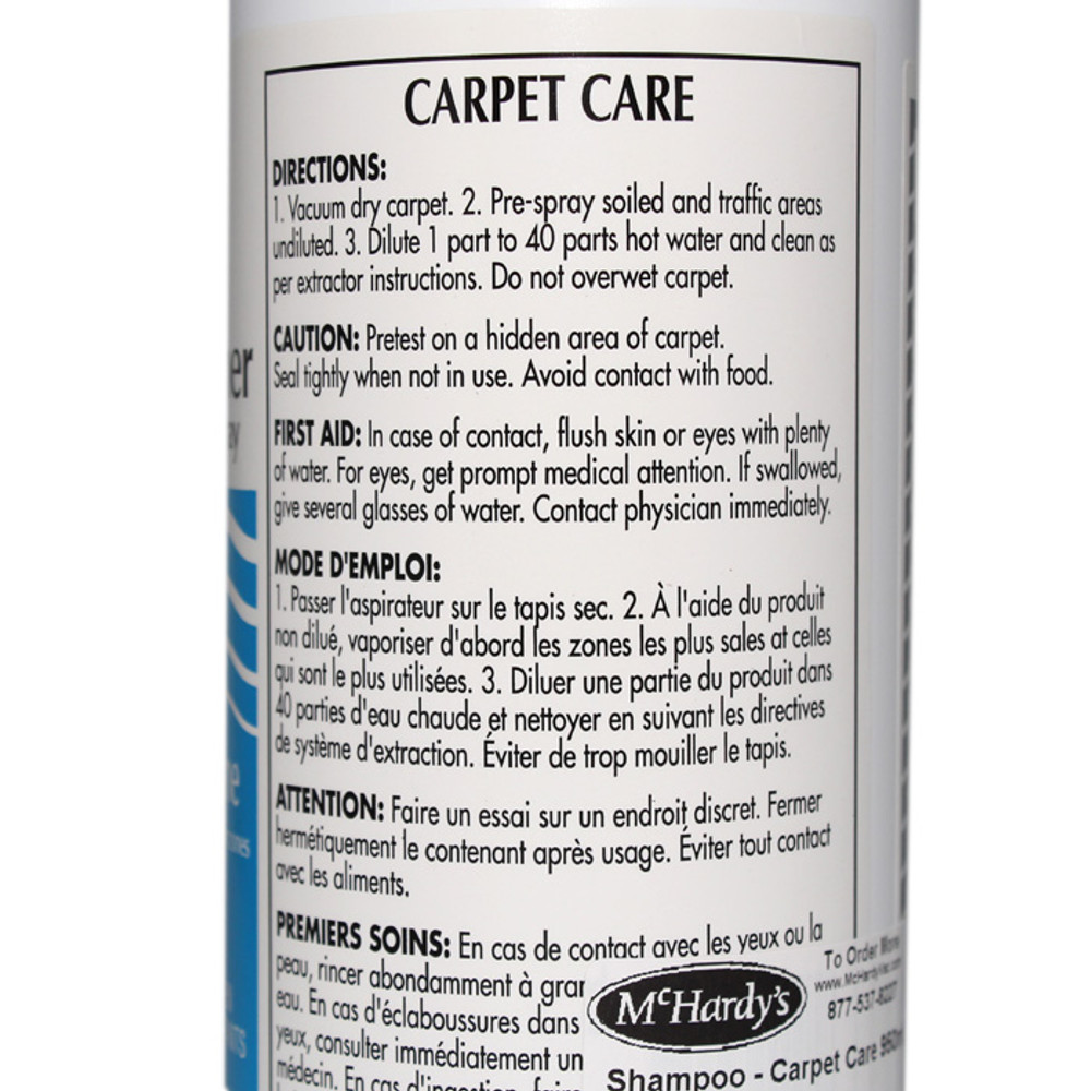Carpet Care Extraction Cleaner and Traffic Area Pre-Spray 950mL