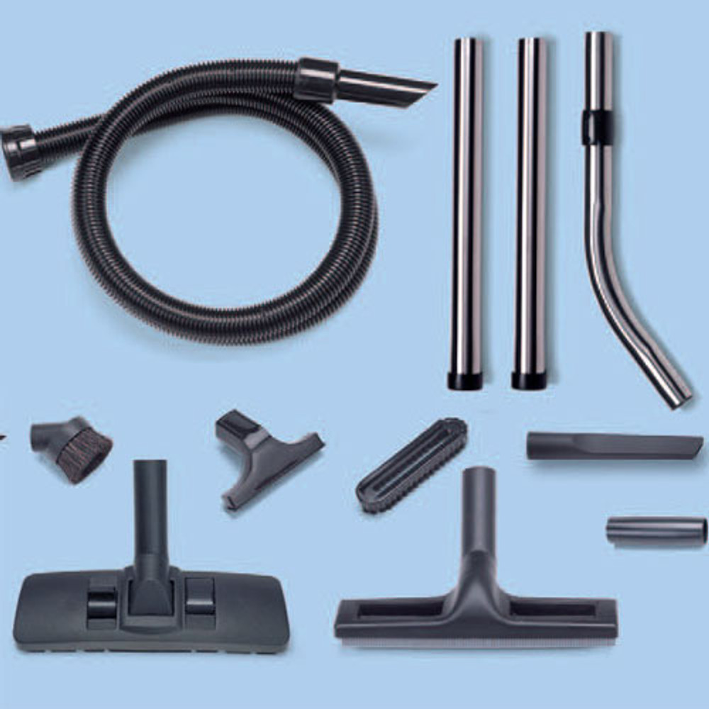 Complete vacuum attachment set.