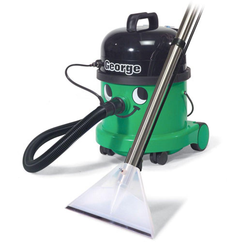George setup to deep clean carpets