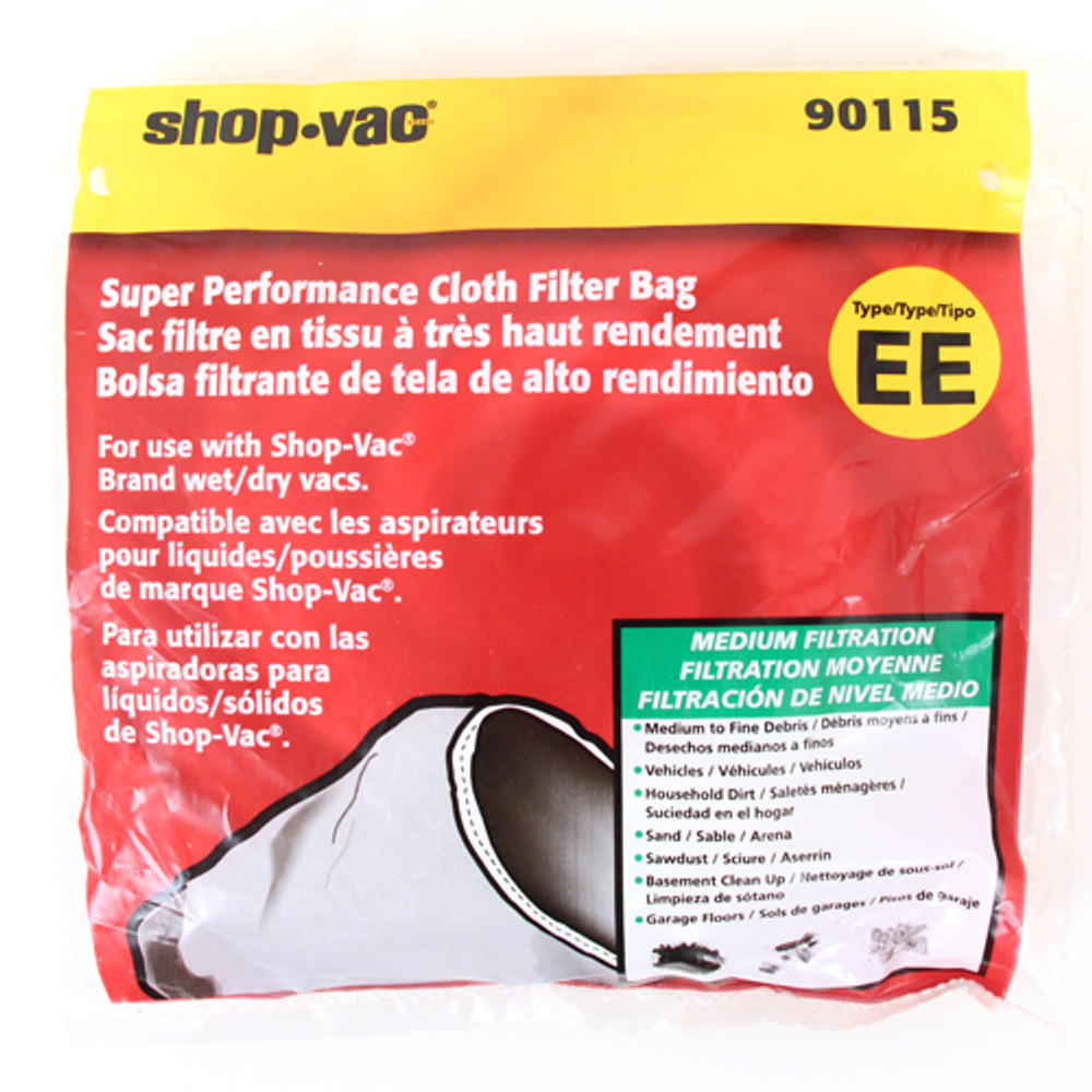 Shop Vac Super Performance Dacron Cloth Filter Type EE