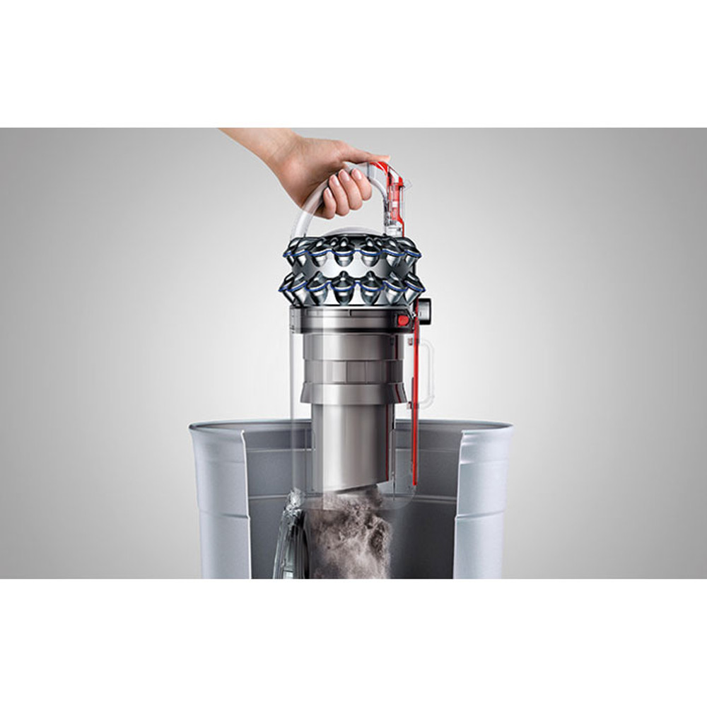 One-touch hygienic bin emptying