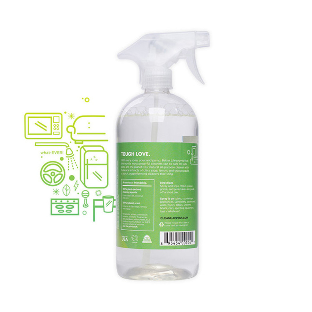 All Purpose Clary Sage and Citrus Cleaner
