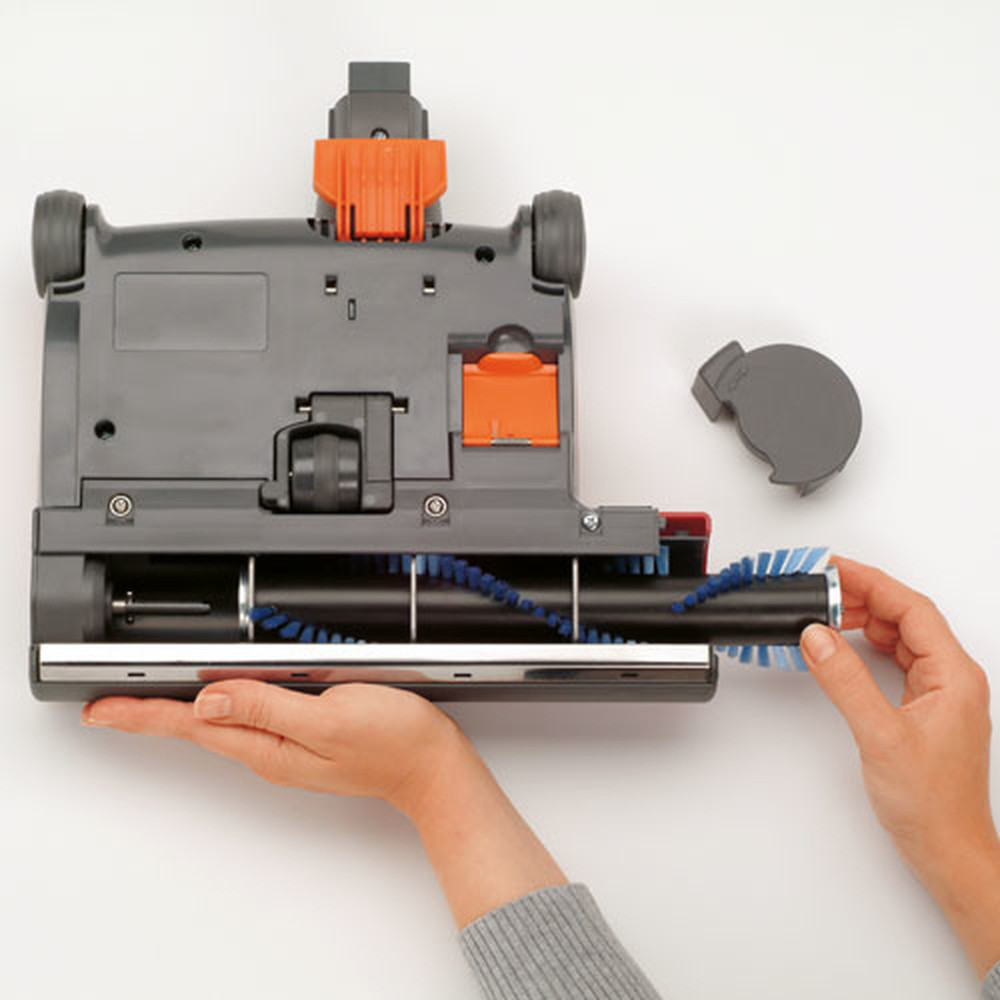 Clean out port and quick change brush bar makes maintenance hassle free
