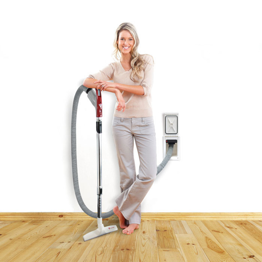 Retractable Hose Central Vacuum Home Cleaning System