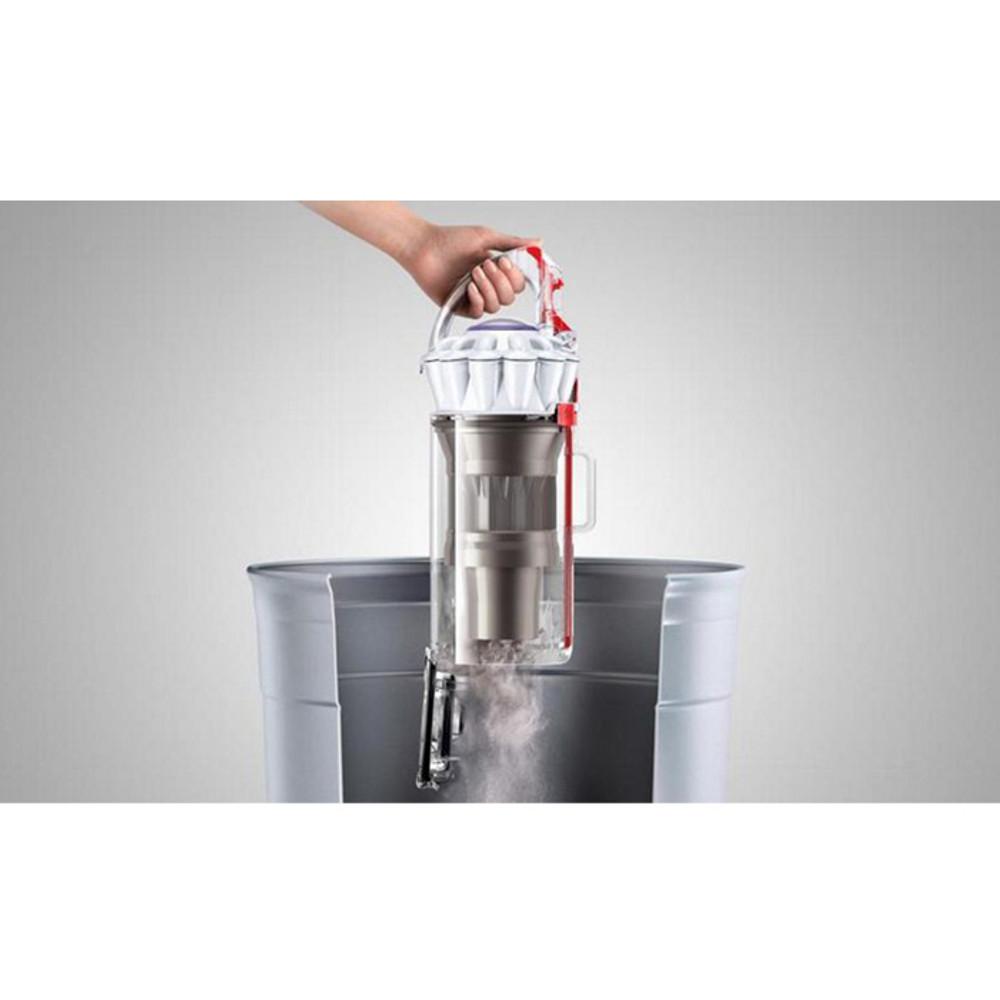 One-touch hygienic dirt bin emptying