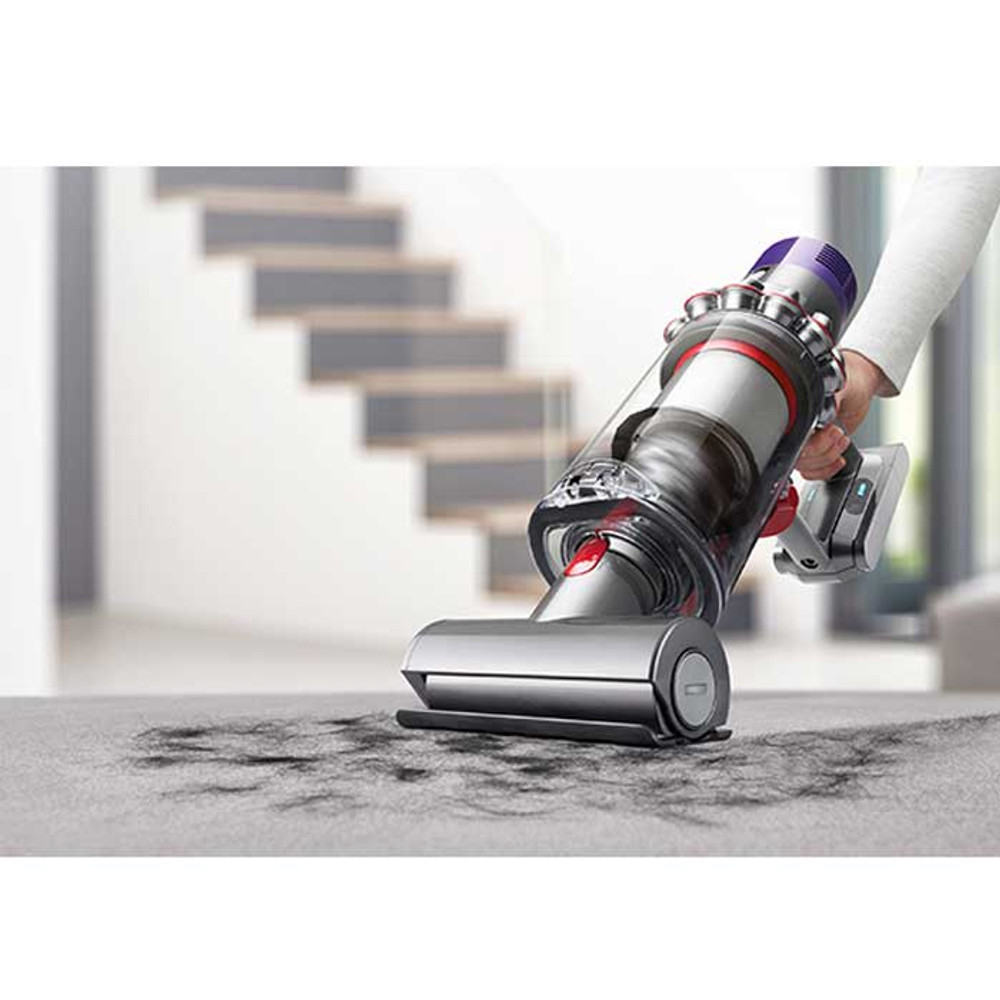 Mini motorized cleanerhead for stairs and upholstery