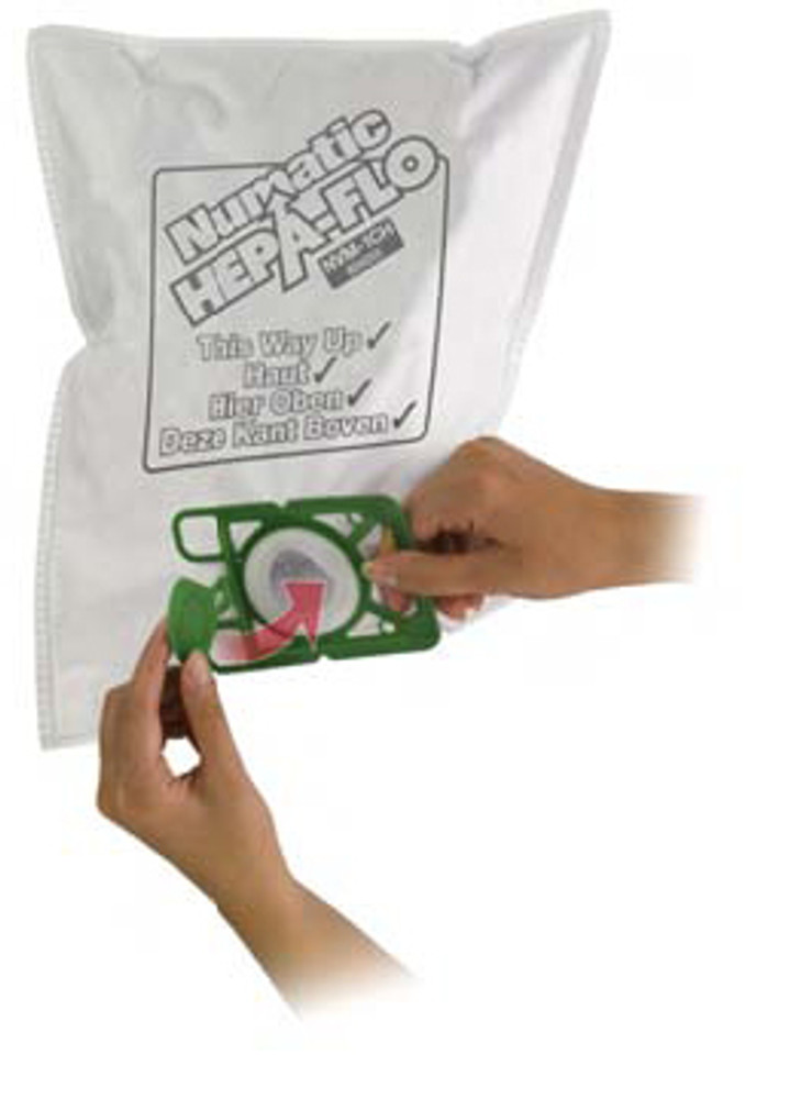 High air flow vacuum bags for added filtration and better suction.