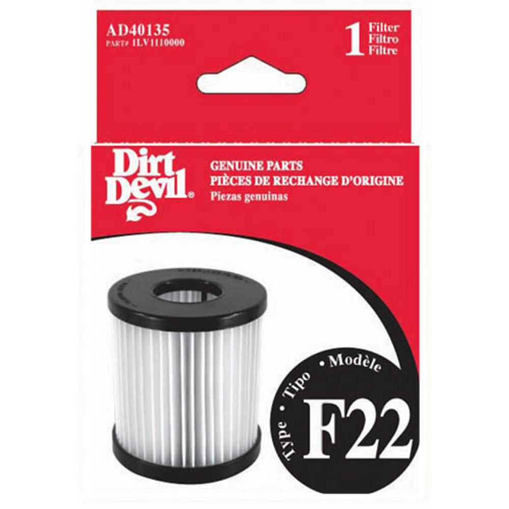Dirt Devil F22 Bagless Upright Vacuum Cleaner Filter 1PK.