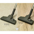 Combination fool tool allows for use on both bare floors and low pile area rugs / carpets
