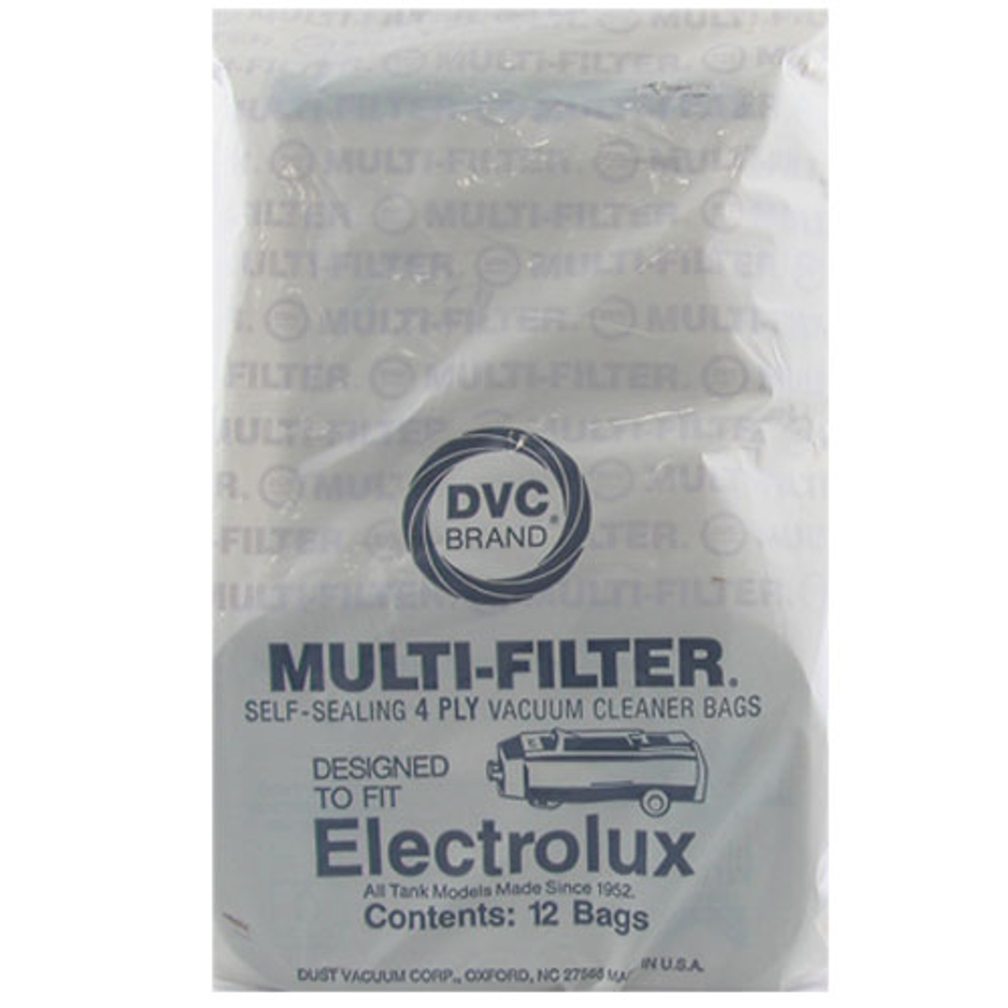 8 Eight Bags for Electrolux Canister Vacuum Style C 4 Ply Bags with Rubber S