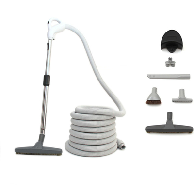 Central Vacuum Hose Package for homes with Bare Floors