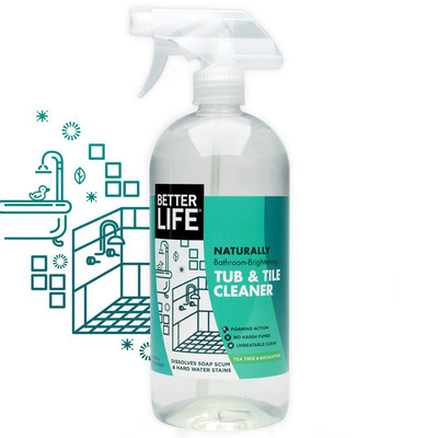 Better Life All Natural Foaming Tub and Tile Cleaner