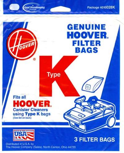 Hoover Type K Vacuum Bags