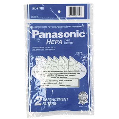 Panasonic MCV191H HEPA Filter 2pk