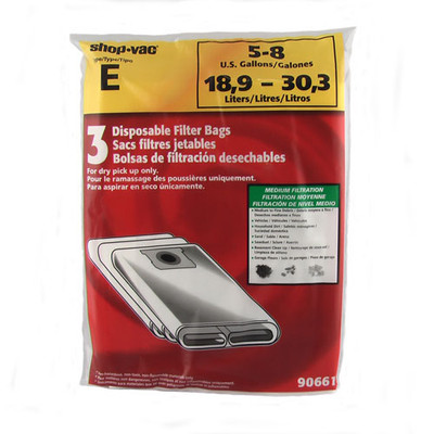 ShopVac 4 - 8 Gallon Bags