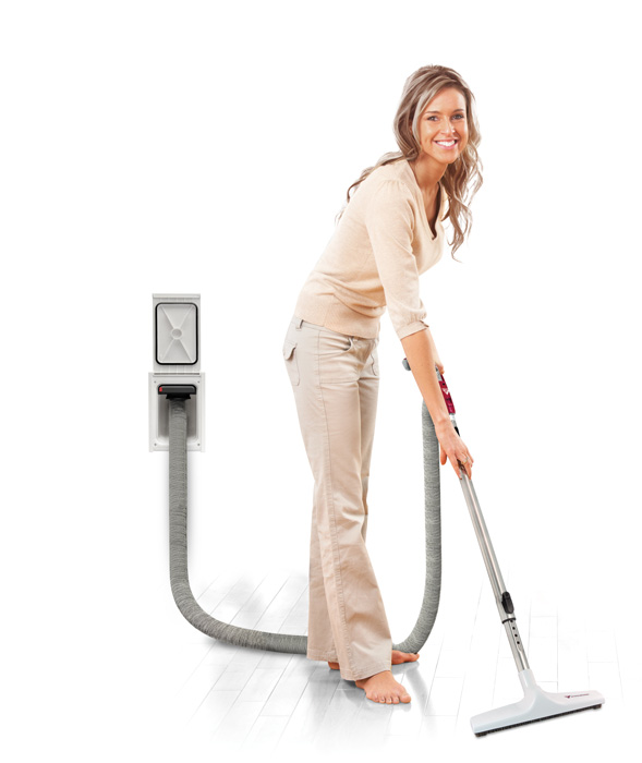Retractable central vacuum hose system making it light and easy to use.