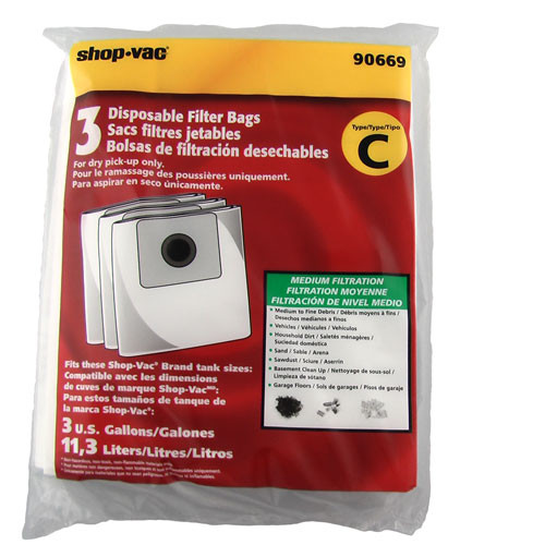 Buy Shop Vac Type C Collection Bags 9066982 3pk From