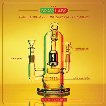 "GRAV LABS 8"" ANDROID FLARE STEMLESS WATER PIPE"