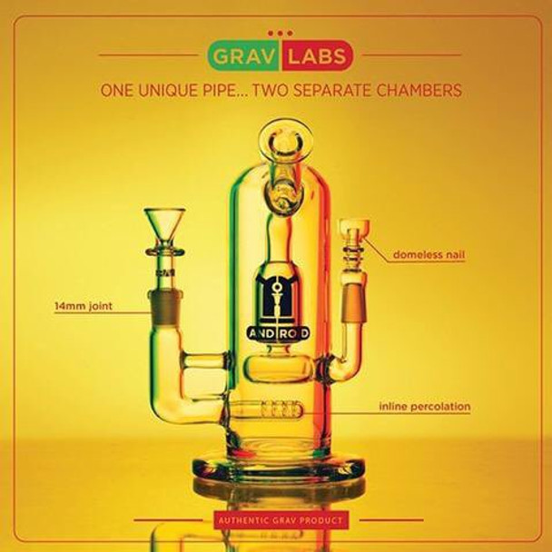 """GRAV LABS 8"""" ANDROID FLARE STEMLESS WATER PIPE"""