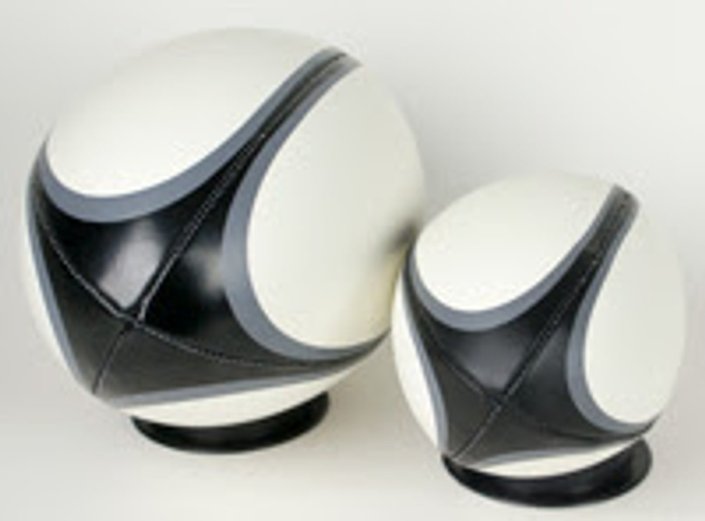 Side view of Rugby Balls