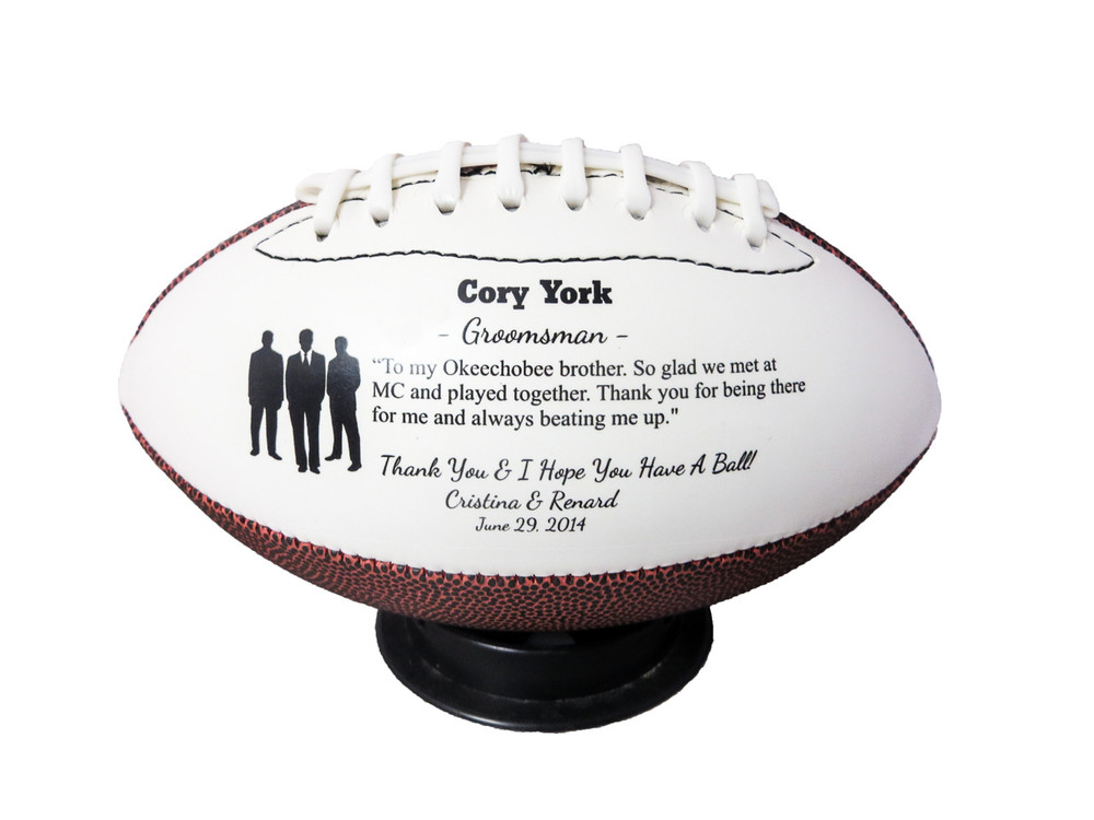 Wedding Groomsmen Silhouette Mid size Football