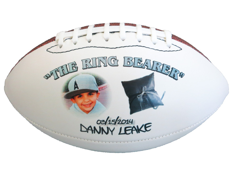 Custom Ring bearer football!