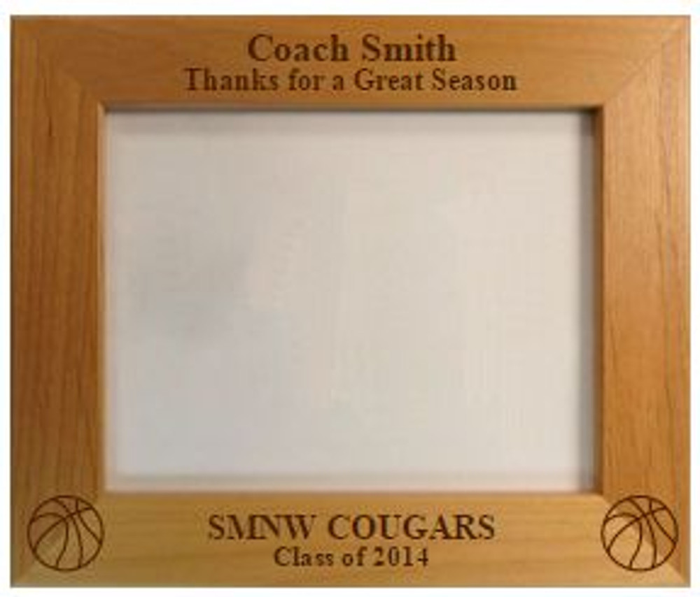 Personalized Thanks Coach Picture Frame