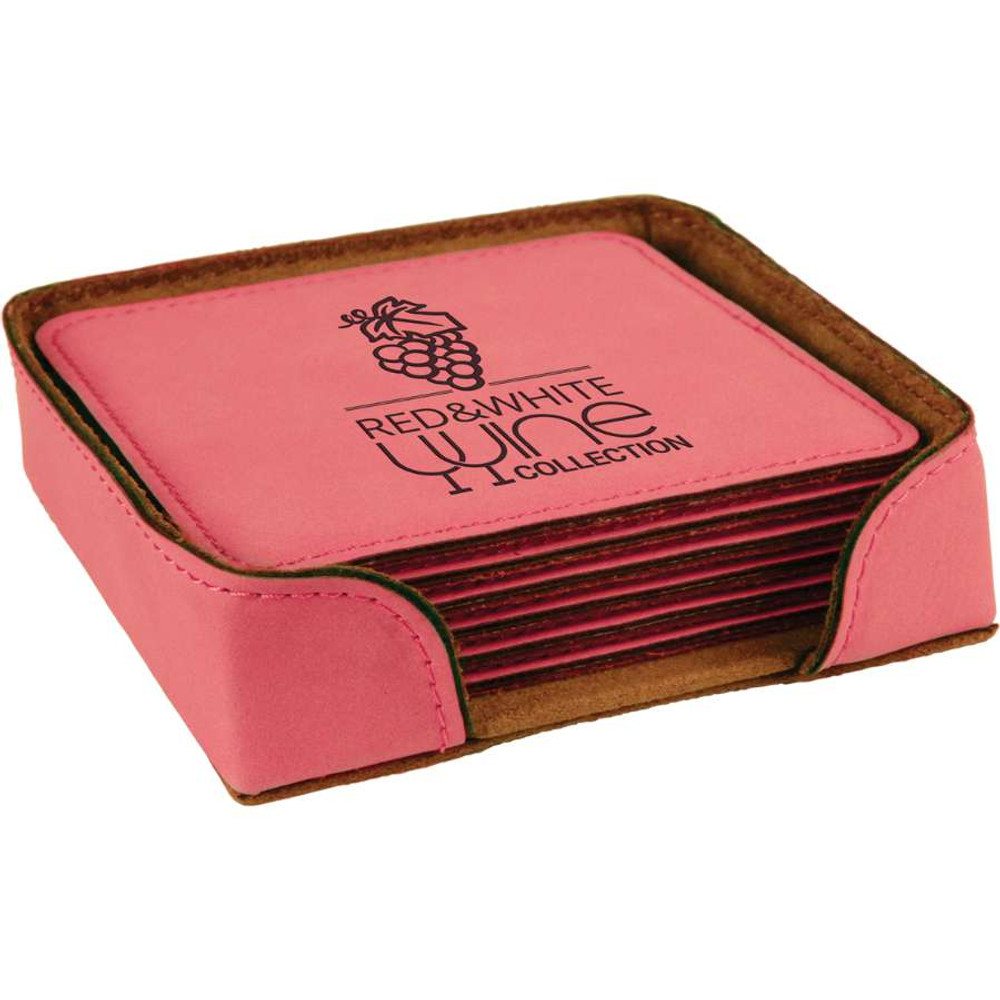 These super popular pink coaster sets are great bridal gifts.