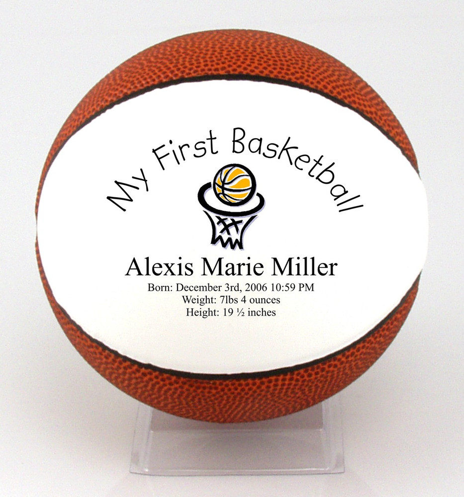 My child's first Basketball