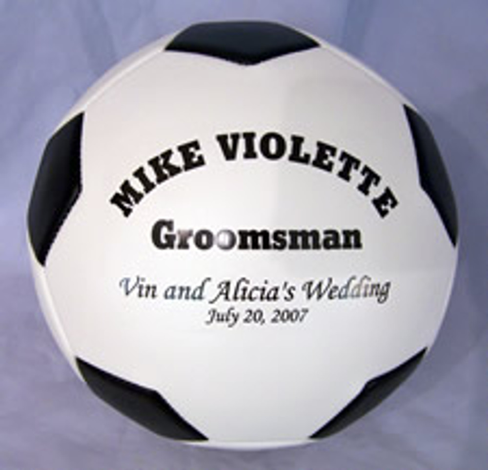 Your sports fanatic groomsman will be thrilled to see that you have put so much effort into creating a one of a kind gift for them to remember forever.