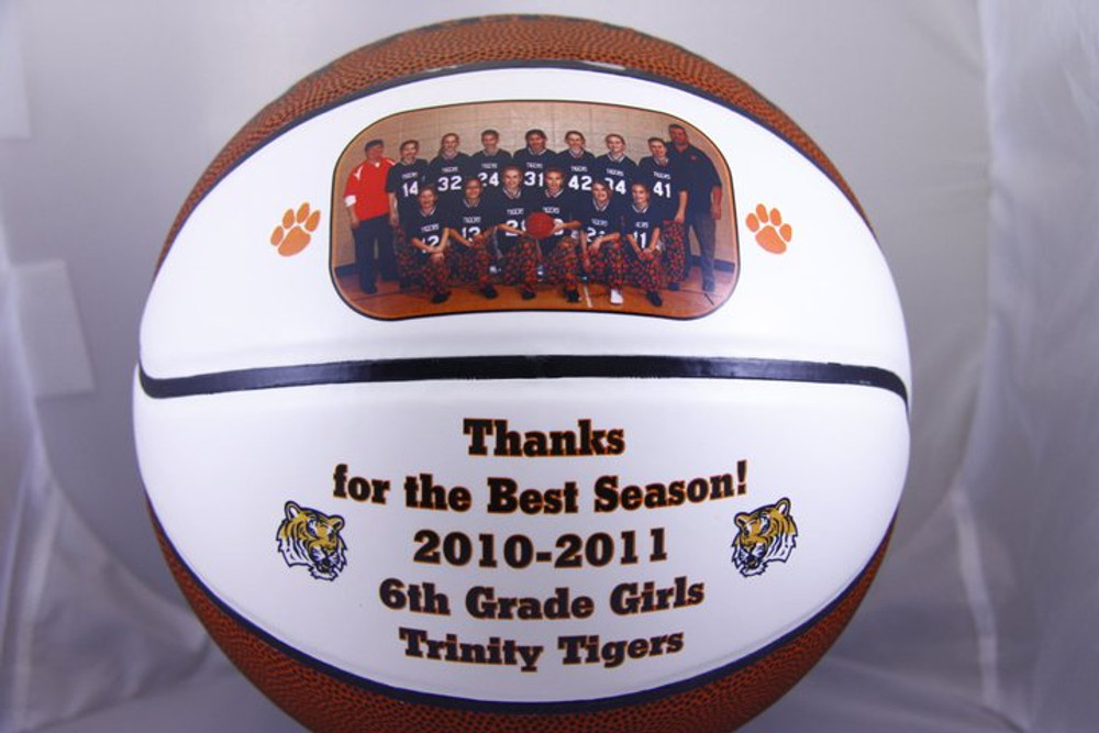 Personalize a ball for your Basketball Coach to show your appreciation for all their hard work! Sports balls are a great gift idea for any sports nut.