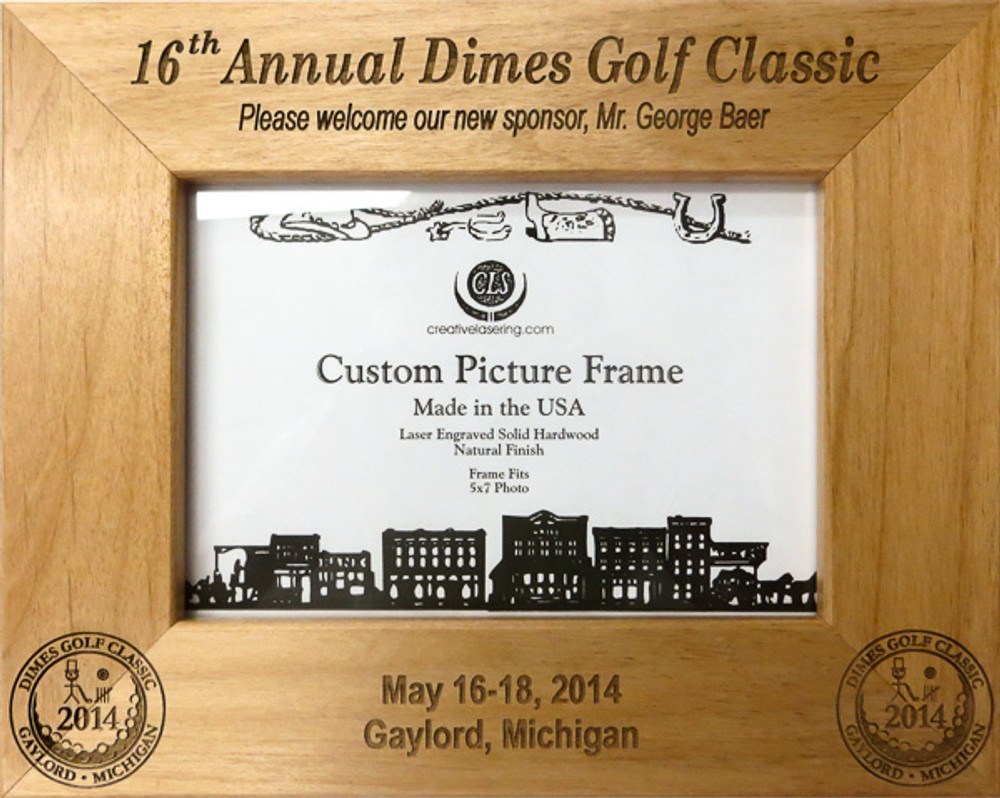 Commemorative Charity Golf tournament picture frame.