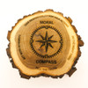 Code of honor custom rustic log plaque.