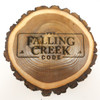 Rustic wooden natural log plaque engraved with Lodge Logo.