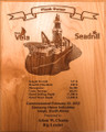 Custom Plank Owner Plaque for Seadrill's newest ship West Vela.