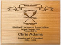 Stafford Lacrosse Association Plank Owner Plaque Formed February 2004