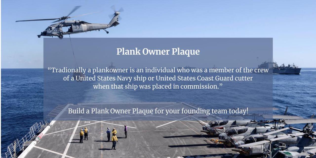 Plank Owner Plaque Banner