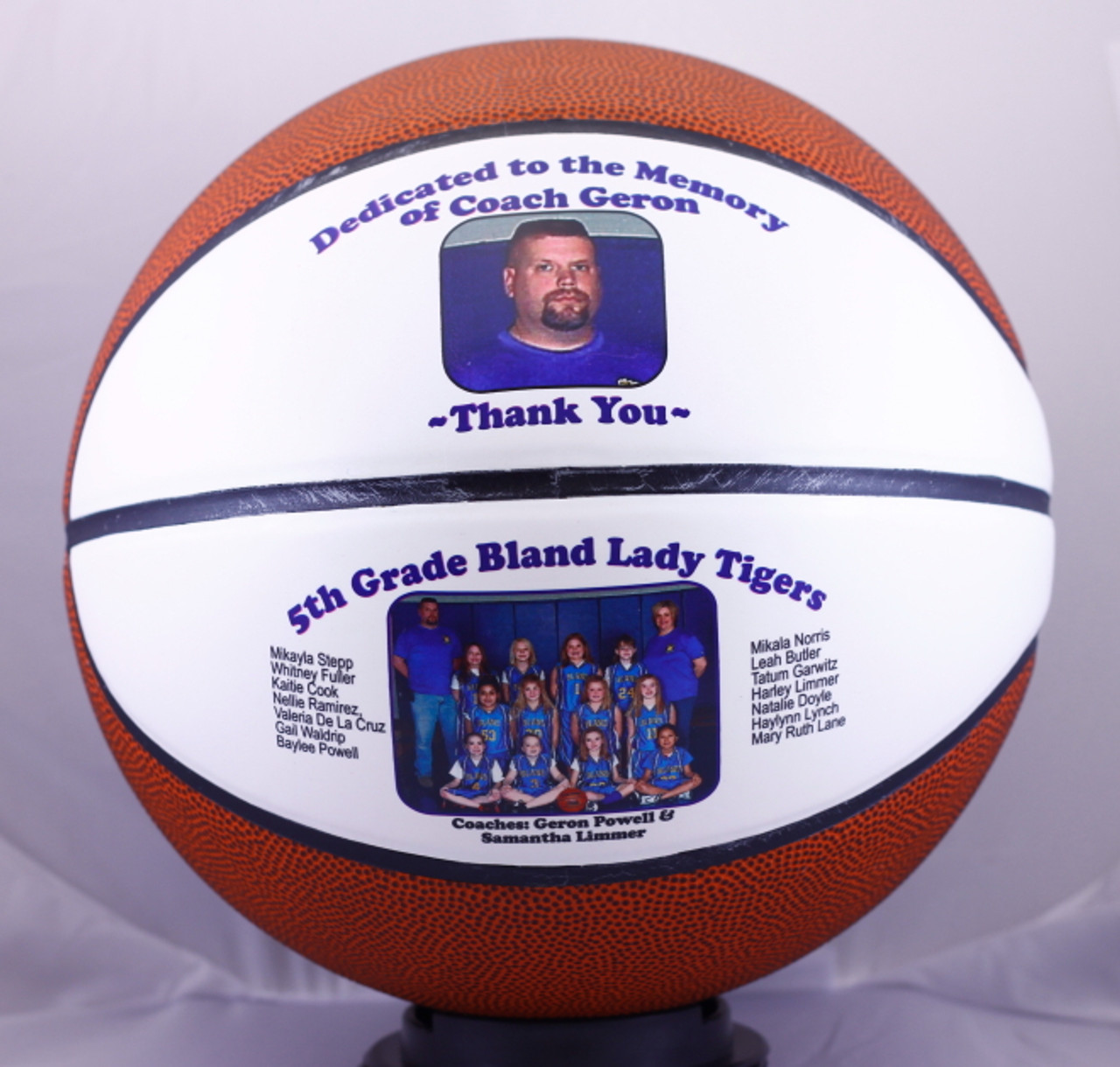 Personalized Split Panel Fullsize Basketball Creative Laser Solutions