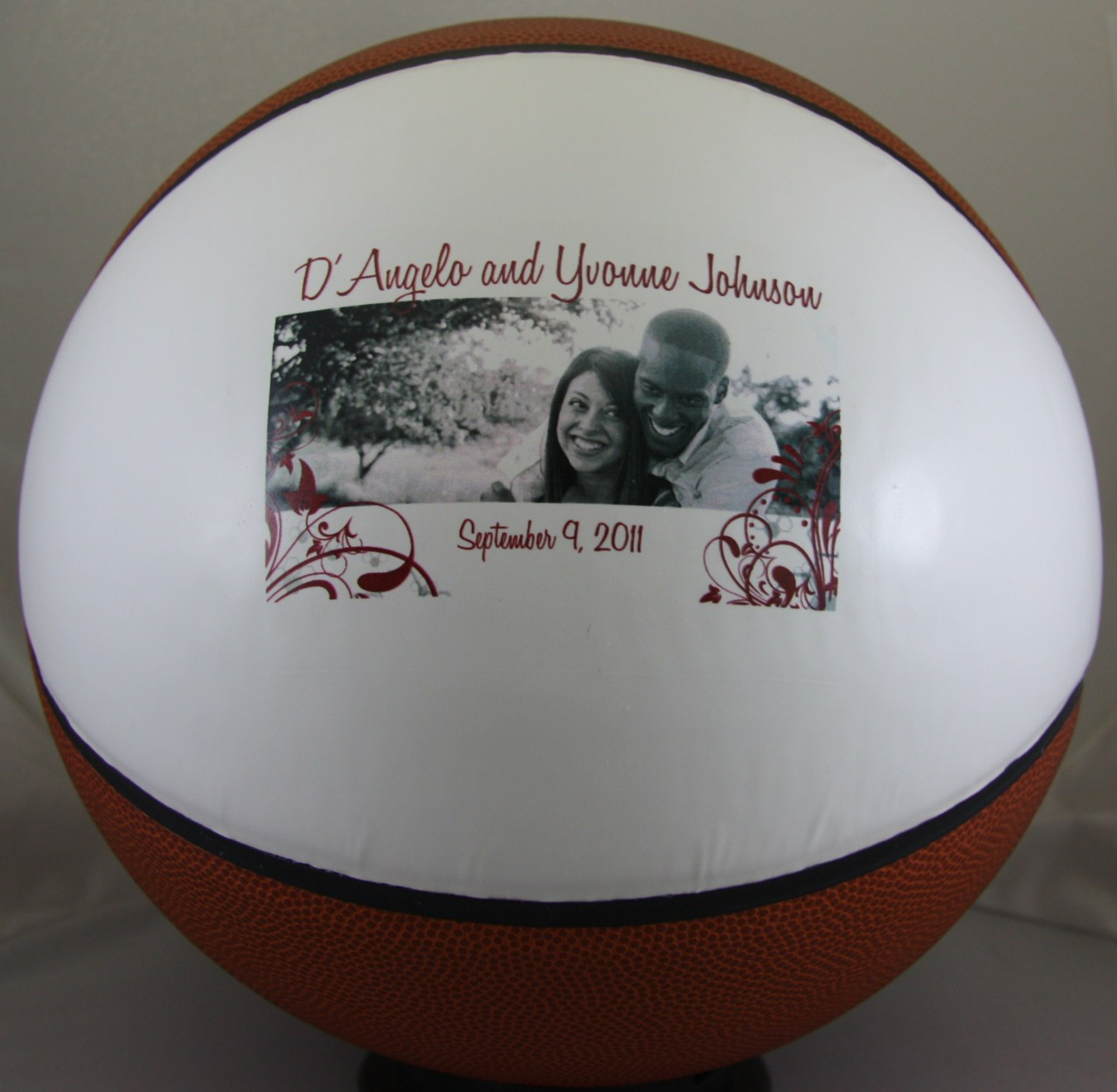 c1bb42515f3 Personalized Fullsize Basketball Full Size Basketball personalized for  anniversary gift.