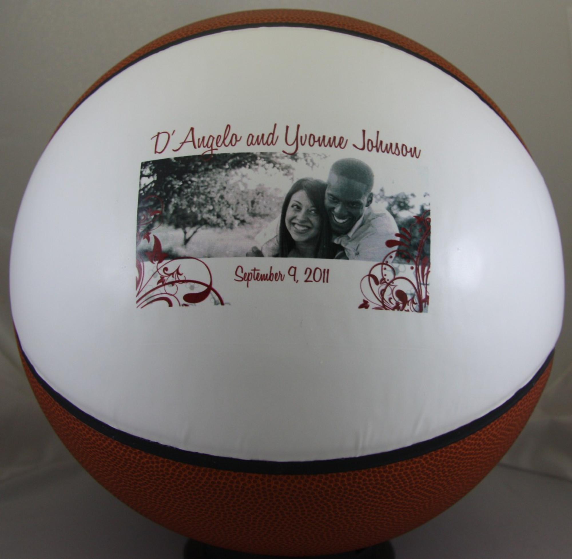 7ddec68c8dd Personalized Fullsize Basketball Full Size Basketball personalized for  anniversary gift.