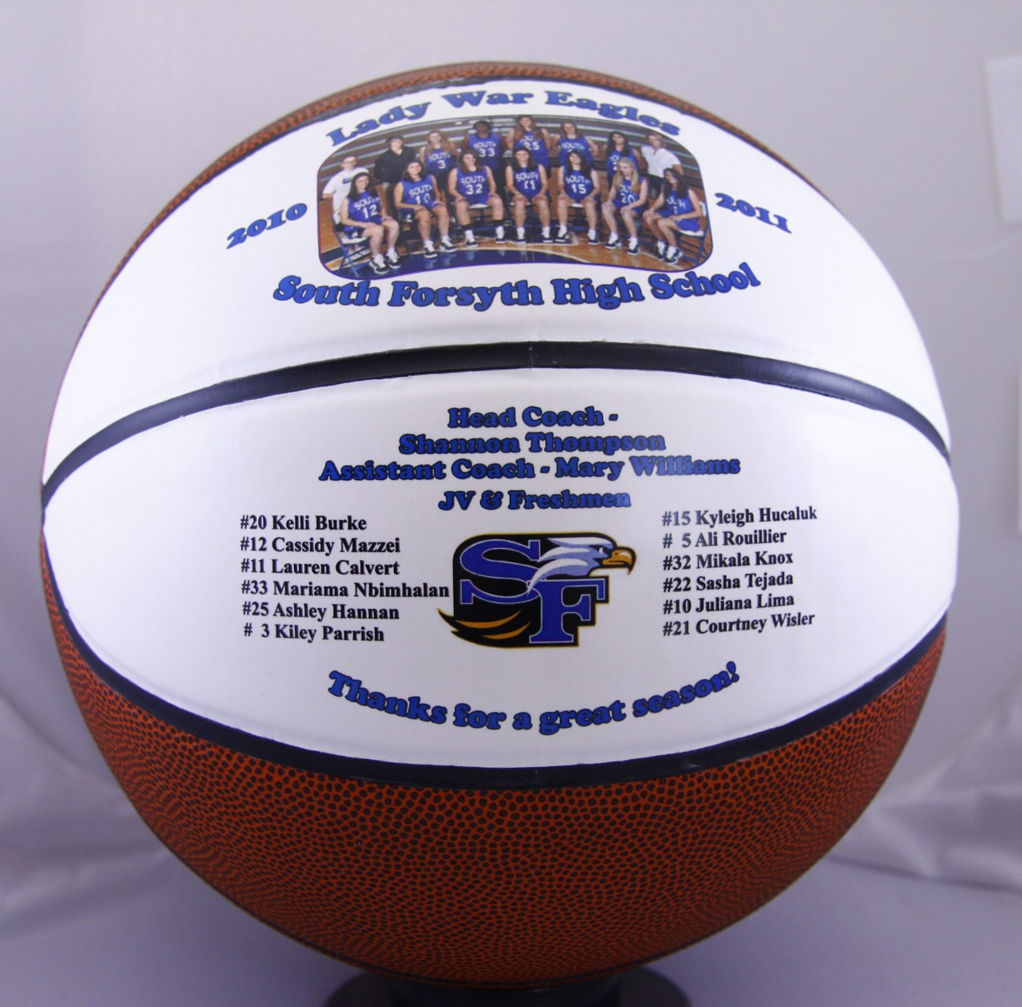 personalized split panel fullsize basketball - creative laser solutions