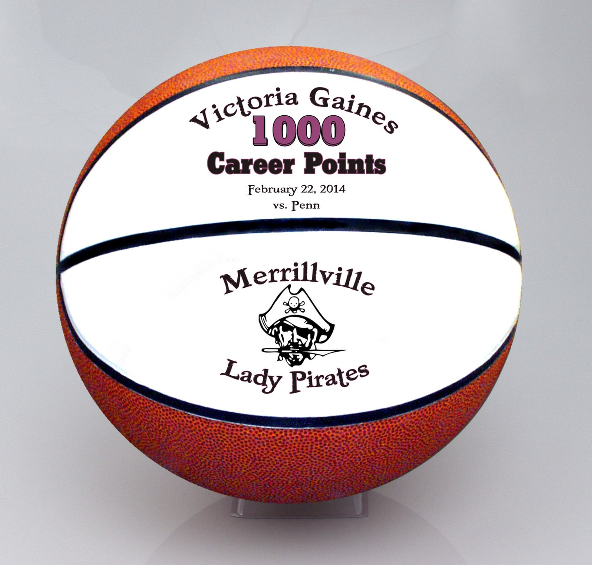 fb513f46daf Personalized Split Panel Fullsize Basketball - Creative Laser Solutions