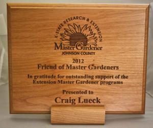 Master Gardner Custom Engraved Wood Plaque