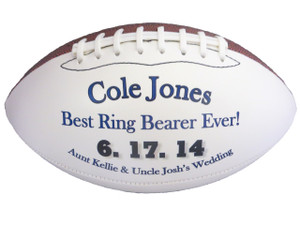 Best Ring Bearer Ever Custom Football