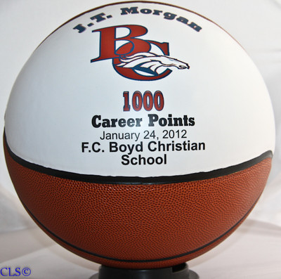 1000 Point Award Personalized Basketball