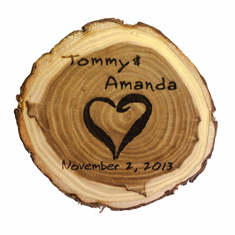 Personalized Old Fashioned Wood Coasters - Set of Four