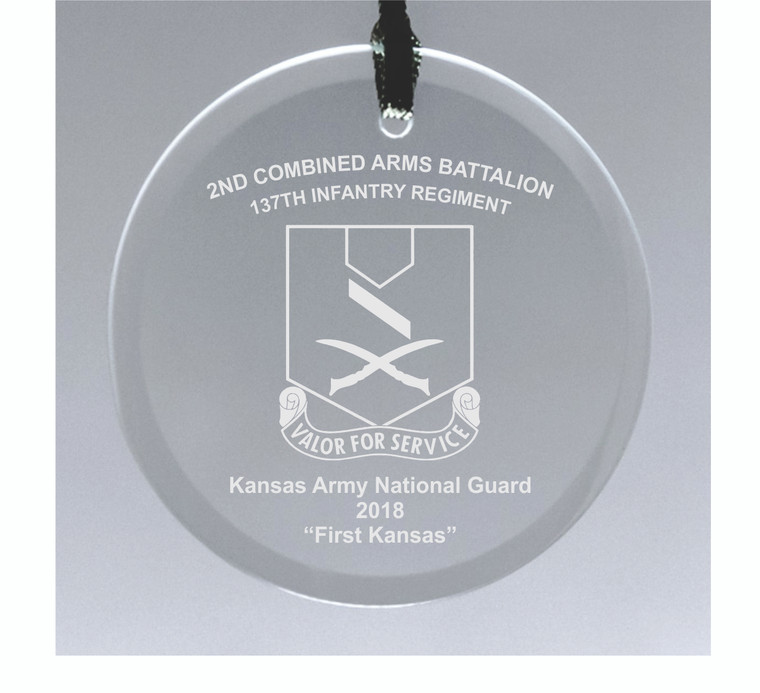 Kansas Army National Guard 137th Infantry Ornament