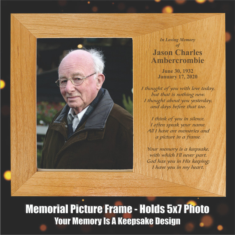 Your Memory Is A Keepsake Memorial Picture Frame