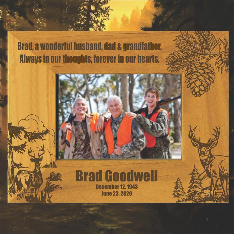 Deer Hunting Memorial Picture Frame