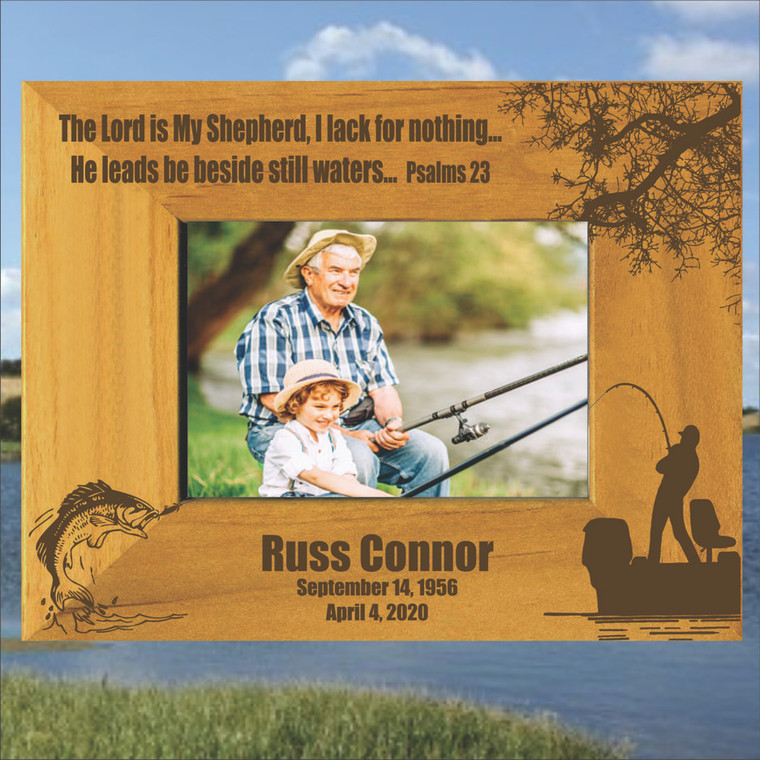 Fishing Theme Memorial Picture Frame